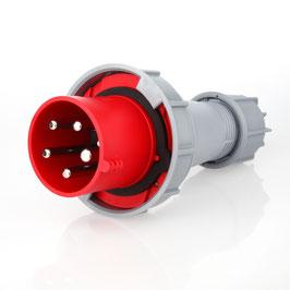 PCE CEE Stecker 5-polig 63A/400V IP66/67 rot/grau