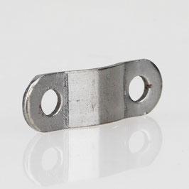 Lampenkabel Schelle Zugentlastung Metall gewölbt 21,5x7x1mm