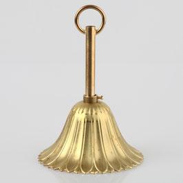 Lampen Baldachin Metall 100x57mm messing roh mit Leuchtenaufhängung