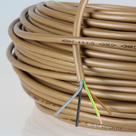 PVC Lampenkabel Rundkabel gold 4-adrig 4x0,75mm² H03 VV-F