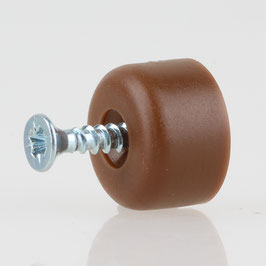 Häfele Bodenträger H3140 für Holz oder Glas braun mit Schraube (20 Stück)