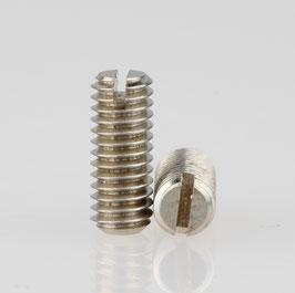 M4 Madenschraube Metall verzinkt ohne Spitze DIN 551 Länge 10mm (10 Stück)