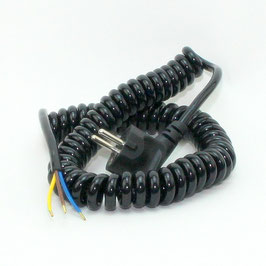 Spiralkabel Schutzkontakt-Wendelleitung 3x1,0 mm² dehnbar bis 2,5 Meter