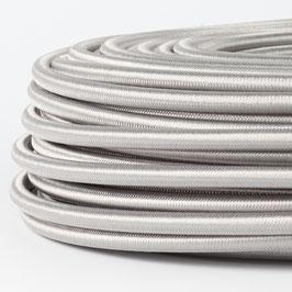 Textilkabel silber 5-adrig 5x0,75 mm² mit Stahlseil als Zugentlastung