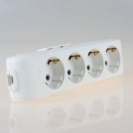 Panasonic 4-fach Tischsteckdose Steckdosenleiste weiß 250V/16A ohne Kabel Zuleitung