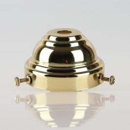Lampenschirm Glashalter 58x35mm Messing poliert für E14 und E27 Fassung