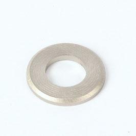 Unterlegscheibe 20x10,5x2,0 mm Nickel matt für (M10x1 Gewinderohr)