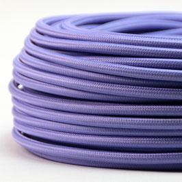 Textilkabel Stoffkabel lila 3-adrig 3x0,75 Schlauchleitung 3G 0,75 H03VV-F