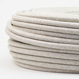Textilkabel Stoffkabel kiesel 3-adrig 3x0,75 Schlauchleitung 3G 0,75 H03VV-F