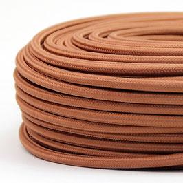 Textilkabel Stoffkabel kuper matt 3-adrig 3x0,75 Schlauchleitung 3G 0,75 H03VV-F