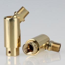 Lampen Dreh Kippgelenk vermessingt M10x1 AG auf M10x1 IG 16x48mm