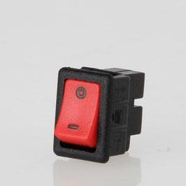 Wippschalter rot 1-polig 19,4x13 mm 250V/6A