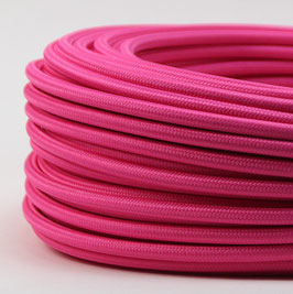 Textilkabel Stoffkabel pink 3-adrig 3x0,75 Schlauchleitung 3G 0,75 H03VV-F