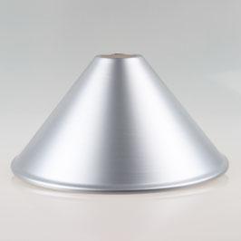 Vintage Metall Lampenschirm silber pulverbeschichtet passend für E27 Fassung mit Außengewinde