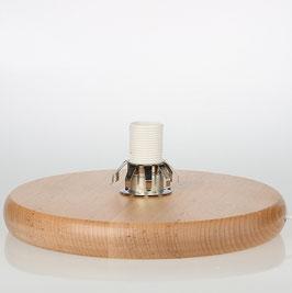 Lampen Holzsockel 230 mm E14 Fassung mit Glashalter und Anschlussleitung
