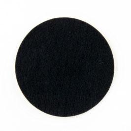 Lampenfuß Filz selbstklebend 80mm Durchmesser schwarz