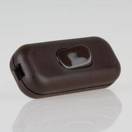 Schnurschalter Schnur-Zwischenschalter braun 60x26mm 250V/2A für Rund und Flachkabel