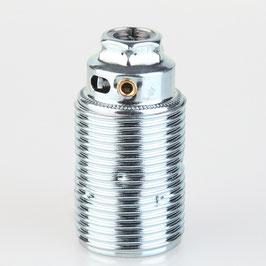 E14 Fassung Metall verchromt mit und ohne Aussengewinde