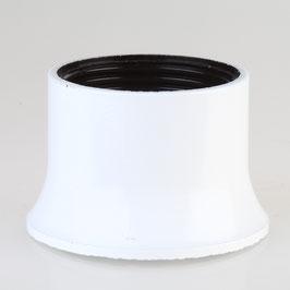 E27 Bakelit Schraubring weiß lackiert 57x37 mm