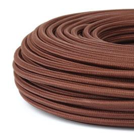 Textilkabel-Stoffkabel braun 3-adrig 3x1,0 mit Stahlseil zur Zugentlastung