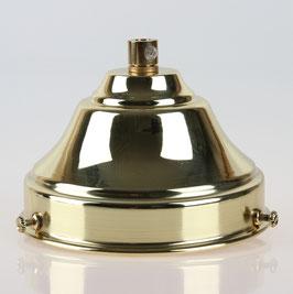 Lampenschirm Glashalter 110x65mm Messing poliert mit E27 Fassung