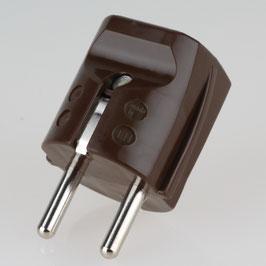 Schutzkontakt-Stecker braun 250V/16A