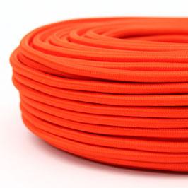 Textilkabel orange 2-adrig 2x0,75 Gummischlauchleitung textilummantelt