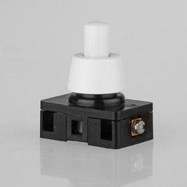 Lampen Einbauschalter Einbau-Druckschalter weiss 230V/6A(2A) 8 mm Achse 1-polig