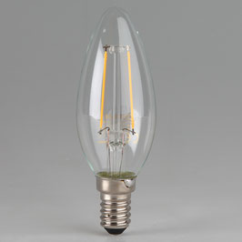 Osram LED Filament Leuchtmittel 2,1W 240V Kerzen-Form klar E14 Sockel warmweiß