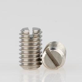 M6 Madenschraube Metall verzinkt ohne Spitze DIN 551 Länge 10mm (10 Stück)