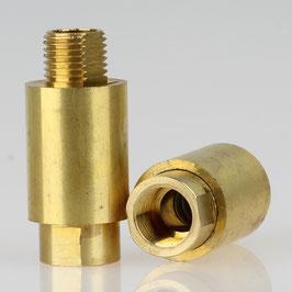 Lampen Dreh-Gelenk 16x35mm Messing roh M10x1 Außengewinde u. Innengewinde