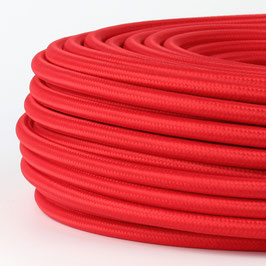 Textilkabel rot 5-adrig 5x0,75 mm² mit Stahlseil als Zugentlastung