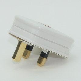 Lampen Netzstecker weiß für Großbritannien UK/GB 3-polig 240V/13A flache Stifte