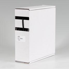 2,4 auf 1,2 mm 11,5 m Schrumpfschlauch-Box schwarz Schrumpfrate 2:1