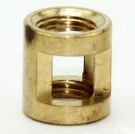 Auslass-Muffe Gewinde-Adapter Messing roh M10x1 Innengewinde auf M10x1 Innengewinde 14x15mm