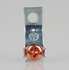Erdlasche mit 4,2mm Loch 8x22mm Metall verzinkt