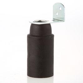 E14 Thermoplast Fassung ohne Außengewinde mit Metall-Winkel