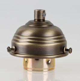 Lampenschirm Glashalter 70x39mm Antik Fume mit E27 Fassung