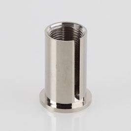 Ms Deckenhalter zylindrisch M13x1 IG mit seitl. Schlitz 3,2 mm