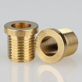 Trompeten-Nippel 12x12 Messing M10x1x10 ohne Verdrehschutz