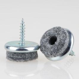 Filzgleiter 20 mm Metall mit Schraube für Holzstühle