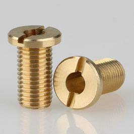 M8x1 Trompeten-Nippel mit Schlitz ohne Verdrehschutz Messing 15mm Länge