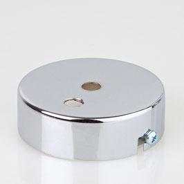 Lampen Metall Baldachin 80x25mm verchromt für 2 Lampenpendel ohne Zugentlaster