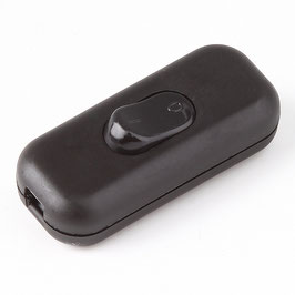 Schnurschalter Schnur-Zwischenschalter schwarz 60x26mm 250V/2A für Flachkabel