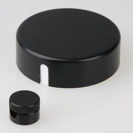 Lampen Abzweig Baldachin 72x22 Metall schwarz mit Zierkappe und Distanz-Aufhänger