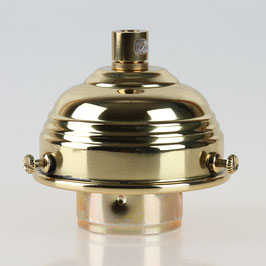 Lampenschirm Glashalter 70x39mm Messing poliert mit E27 Fassung