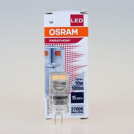Osram LED-Stiftsockellampe, Parathom Pin G4/12V/0,9W=(10W) warmweiß