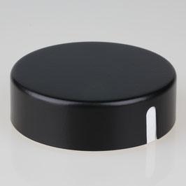 Lampen Abzweig Baldachin 72x22 Metall schwarz mit Zierkappe