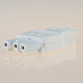 Schnellmontage Steckverbinder für individuelle Verbindungsleitungen Buchsenteil 230V/16A weiß