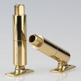 Lampen Dreh Kippgelenk Messing M10x1x10 AG mit Lasche 13x63 mm